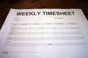 weekly construction timesheet